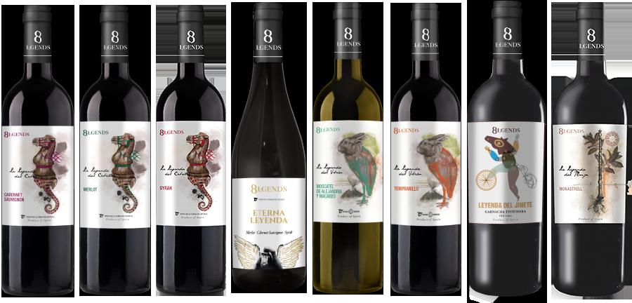 8 Lgends - nuestros vinos